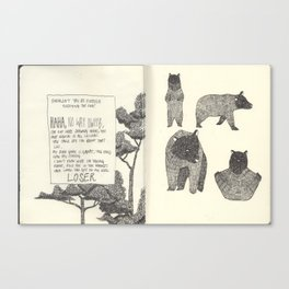 Secret Diary  Canvas Print
