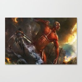 colossal titan appears Canvas Print