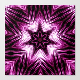 Bright Dark Violet Wine Red Abstract Blossom #purple #kaleidoscope Canvas Print