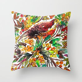 Cinnamon Dove Throw Pillow