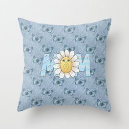 Dreamy Butterflies Roses and Mom Throw Pillow