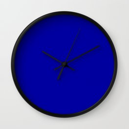 Simple Solid Color Earth Blue All Over Print Wall Clock