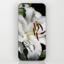 White Lily by Teresa Thompson iPhone Skin