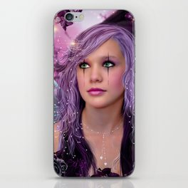 Purple silence iPhone Skin
