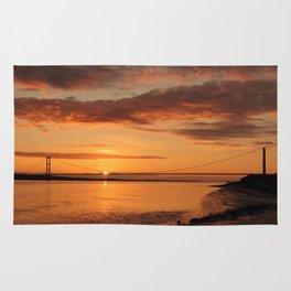 Humber Bridge Sunrise Rug