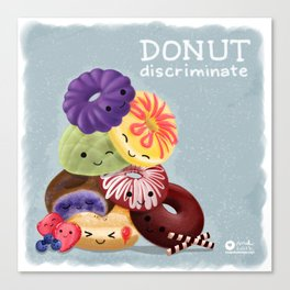 Donut Discriminate Canvas Print
