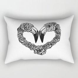 Flamingo Heart Rectangular Pillow