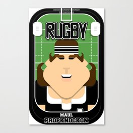 Rugby Black - Maul Propknockon - June version Canvas Print