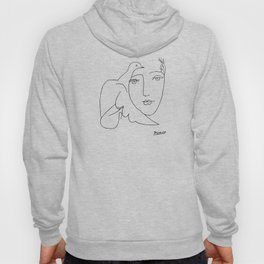 Pablo Picasso Peace (Dove and Face) T Shirt, Sketch Artwork Hoody