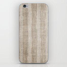 Striped burlap (Hessian series 3 of 3) iPhone Skin