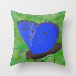 Karner Blue Butterfly Throw Pillow