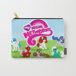 My Social Networks - My Little Pony Parody Carry-All Pouch