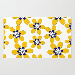 Flower yellow Rug