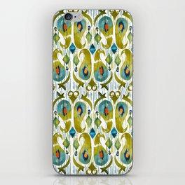 indian cucumbers balinese ikat print mini iPhone Skin