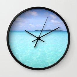 Aqua Water Island Dreams Wall Clock