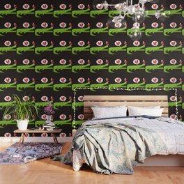 Alligator in Love Wallpaper