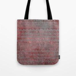 Rose Gray Velvet Foil Tote Bag
