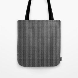 """""""Grey Vertical Lines Wool Texture"""" Tote Bag"""