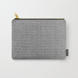 Woven Texture BW Carry-All Pouch
