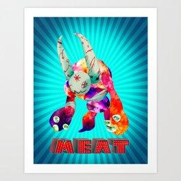 Blue Meat Art Print