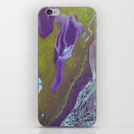 Dirty Acrylic Paint Pour 32, Fluid Art Reproduction iPhone Skin