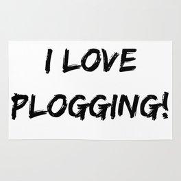I love Plogging! Minimalist Typography Rug