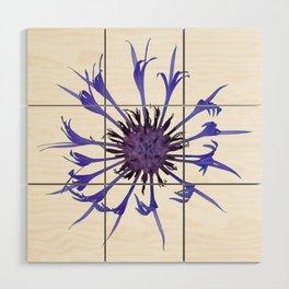 Thin blue flames Wood Wall Art