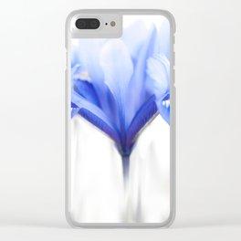 Blue Iris 1 Clear iPhone Case