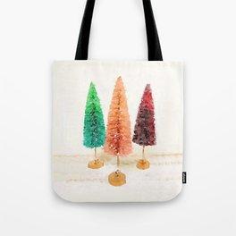 Vintage Bottlebrush Pastel Trees Tote Bag
