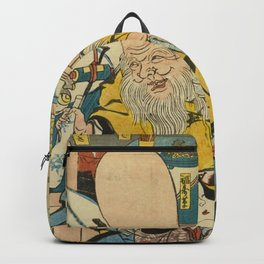 A long head Japanese person Ukiyo-e Backpack