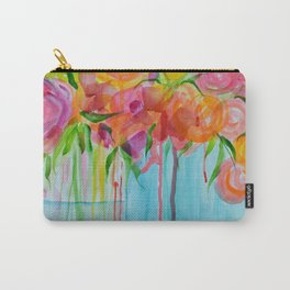 Running Roses Carry-All Pouch