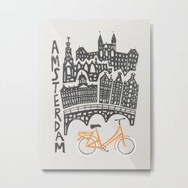 Amsterdam Cityscape Metal Print