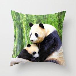 Panda-love Throw Pillow