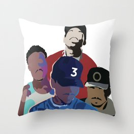 Chance the Rapper - Coloring Book, Acid Rap, 10 Day, SOX Throw Pillow