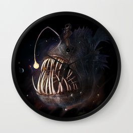 Space Angler Wall Clock