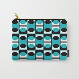 Geometric Pattern #133 (turquoise lens) Carry-All Pouch