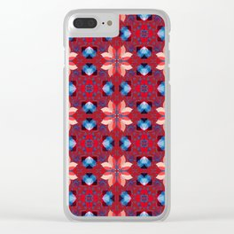 Abstract flower pattern 5h Clear iPhone Case