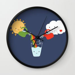 The Glass is Refillable Wall Clock