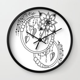 "Zentangle Inspired ""Rubi"" Wall Clock"