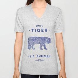 Smile Tiger, it's Summer Unisex V-Neck