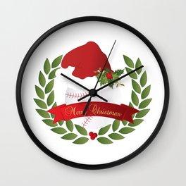 Christmas Baseball Wall Clock