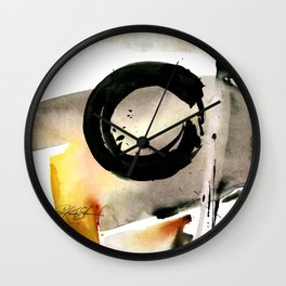 Enso Abstraction No. 105 by Kathy morton Stanion Wall Clock