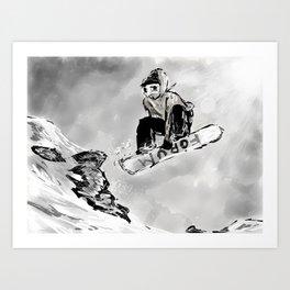 Tricks and Jumps  Art Print