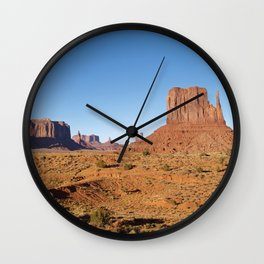 Evening light at Monument Valley Wall Clock