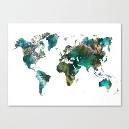 Map of the World tree #map #world Canvas Print