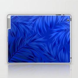 Palm Tree Fronds Brilliant Blue on Blue Hawaii Tropical Décor Laptop & iPad Skin