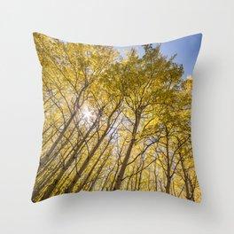 Sparkling Autumn Throw Pillow