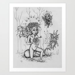 Mother Nature's Mourning Ceremony Art Print