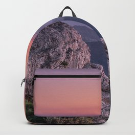 Misty Mountains At Sunset. Sierra Nevada Backpack
