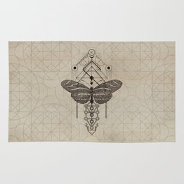 Sacred  Geometry  Zebra Longwing Butterfly Rug